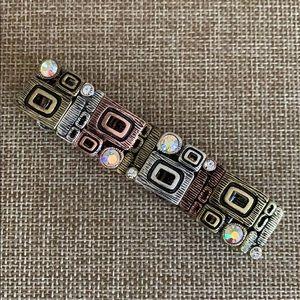 NEW Mixed Metals Aurora Borealis Stretch Bracelet